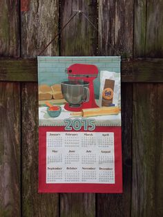 In its third year, the Richard Creative Calendar Towel pays homage to the beloved stand mixer and all of its inherent potential and meaning. $25.95