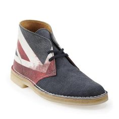 Clarks Desert Boot in Union Jack fabric