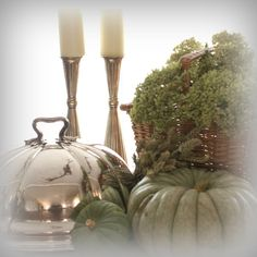 Autumn kitchen decor  cloche pumpkin Kom Achterom: interieur