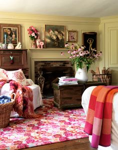Decorating with Color - Decorating with Bold Colors - Jutta Verde Rosa - Country Living