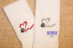 Puppy love hand towel. This is an awesome hand towel for the dog lover!