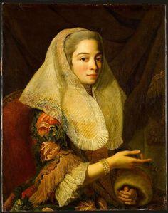 Portrait d'une jeune femme maltaise, par le Chevalier Antoine de Favray (1706-1791)