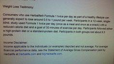 Herbalife Disclaimers