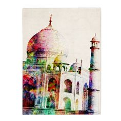 'Taj Mahal' by Michael Tompsett Graphic Art on Canvas