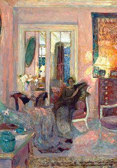 Princess Bibesco (Marthe Lahovary), 1920 Edouard Vuillard Darker ( matters when painting). Art And Illustration, Edouard Vuillard, Art Amour, Paintings I Love, Fine Art, Art Design, Painting & Drawing, Painting Doors, Interior Painting