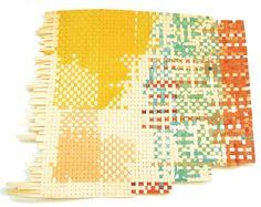 Lorenzo Hurtado Segovia, Papel tejido 18, 2007, Acrylic ink on paper, 14 1/2 x 17 inches