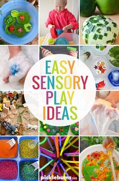 Sensory play doesn't have to be difficult, or even that messy! Try one of these easy sensory play ideas. #sensoryplay
