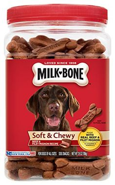 Milk-Bone Soft & Chewy Beef & Filet Mignon Recipe dog snacks are delicious, tender snacks that are made with real beef. Prepared with care by the makers of Milk-Bone dog snacks, these tasty treats will give your dog the simple, genuin. Peanut Butter Dog Treats, Peanut Butter Oatmeal, Homemade Dog Treats, Pet Treats, Dog Treat Recipes, Dog Food Recipes, Recipe Treats, Chewy Chicken, Chicken Treats