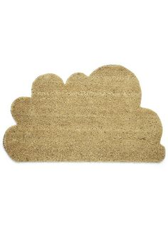 Wel-cumulus Home Doormat, #ModCloth  Man-made materials.  Measures approximately 30 x 18 x 1 inches.  Imported  USD$34.99    It'll be nicer if it's in white or blue.