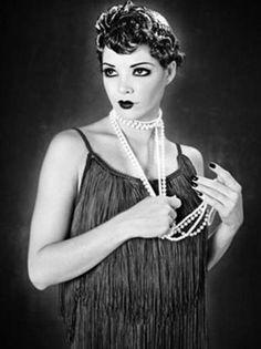Collana di perle in stile anni '20