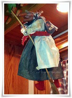 Original Norwegian Cottage Kitchen Witch - Scandinavian Hanging Good ...