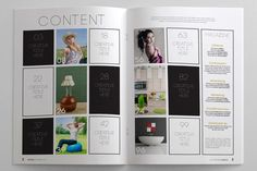 Magazine layout - grid contents