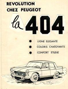 Peugeot 404 par Will début '60.