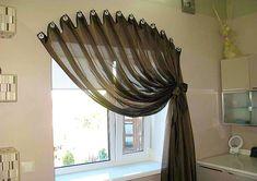 Креативные способы повесить штору без карниза.