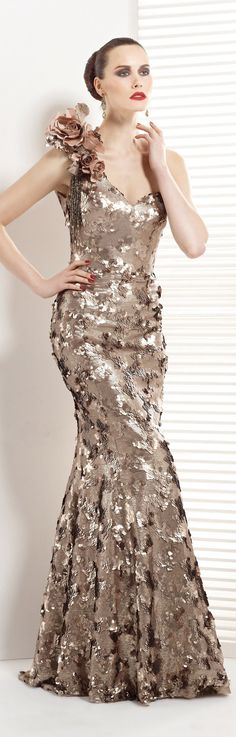 Love the effect of scales sequence on silver fish fabric..great as a corset....Tarik Ediz couture ~  <3