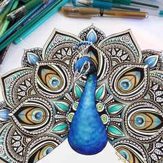 peacock mandala art on Instagram