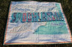 Spoonlandia quilt made by Spoonflower team members Laurie, Abbey, and John for our yearly staff challenge contest! http://blog.spoonflower.com/2013/03/2013-spoonflower-staff-quilting-challenge-pt-1-a-quilt-from-spoonlandia.html