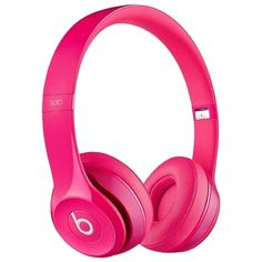 Pre-owned New Beats Solo2 Wired On-ear Headphones - Pink ($182) ❤ liked on Polyvore featuring accessories, pink, pink headphones and apple headphones