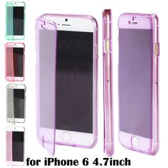 """For Apple iPhone 6 4.7"""" Silicon TPU Wrap Up Phone Case Cover with Built In Screen Protector and Dust Plug Capa Para Fundas iPhone Web Shop 