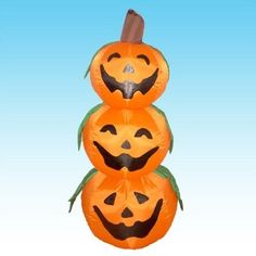 New 3pc Jack-O-Lanterns Halloween Yard Decoration Art 4 Foot Inflatable #GOT