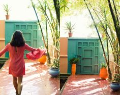 love this cool intense shade of green - Marrakech, Morocco Marrakesh, Marrakech Morocco, Marrakech Travel, Interior Design Boards, French Artists, Shades Of Green, Garden Inspiration, Botanical Gardens, Colours