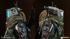 Pilot character for Titanfall 2's multiplayer.  Art Director: Joel Emslie Concept Artist: Hethe Srodawa Weapon Artists: Robb Shoberg