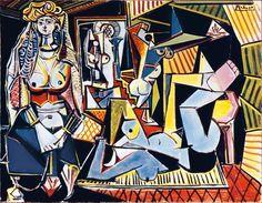 Pablo Picasso, Les Femmes d'Alger, 1955, .    on ArtStack #pablo-picasso #art