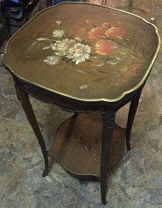 Antique Hand Painted floral French Louis XVI by DreamCollectibles
