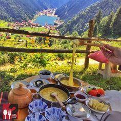 frühstück in uzungöl, trabzon, türkei