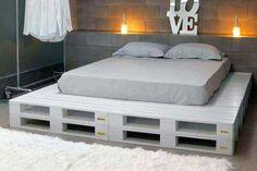 Bett Selber Bauen:12 Einmalige DIY Bett Und Bettrahmen Ideen | Holz Wood |  Pinterest | Bett Bauen, Schweben Und Bett