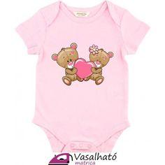 Kislány és kisfiú maci piros szívvel vasalós matrica pólóra, bodyra, szerelmes macipár vasalható matrica #vasalhatómatrica #vasalhatómatricák #vasalható #matrica #gyerek #vasalósmatrica