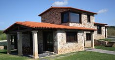 Planta y media Gazebo, Pergola, Exterior, Stone Houses, Ideas Para, Bungalow, House Plans, Sweet Home, Villa