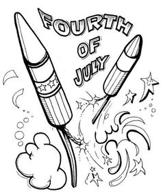 Celebration Fireworks On Independence Day Coloring Page - Download & Print Online Coloring Pages for Free | Color Nimbus