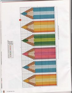 Cross Stitch Bookmarks, Cross Stitch Baby, Cross Stitch Charts, Cross Stitch Patterns, Pixel Crochet, Crochet Chart, Cross Stitching, Cross Stitch Embroidery, Alpha Patterns