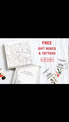 Free gift boxes & Tattyoo tattoos on all order until Dec 24.