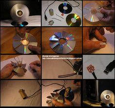 De Wereld VAN RECYCLING: DIY gerecyclede CD's in Word fan