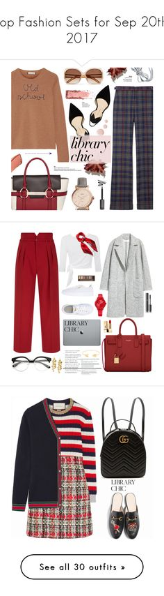 """Top Fashion Sets for Sep 20th, 2017"" by polyvore ❤ liked on Polyvore featuring Lingua Franca, Gabriela Hearst, Chloé, Paul Andrew, FOSSIL, Topshop, BERRICLE, Hourglass Cosmetics, Fiorelli and RED Valentino"