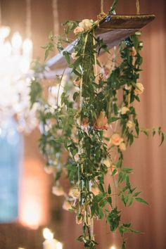 romantic blush and gold wedding inspiration shoot with photos by Vue Photography | via junebugweddings.com