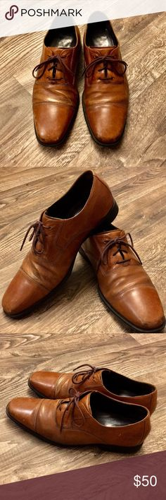 Cole Haan Brown Leather Dress Shoes Men's brown leather dress shoes from Cole Haan. Size 9.5. Ships fast! Cole Haan Shoes