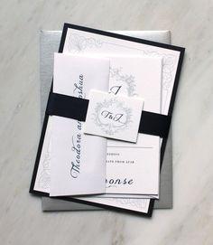 Classic Love  Elegant Wedding Invitations Romantic by BeaconLane, $6.25