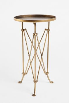 Metal Accordion Side Table Just purchased 2 of these as nightstands for either the guest room or our bedroom