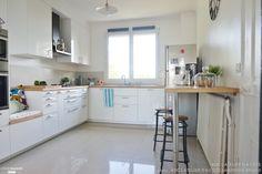 Une cuisine lumineuse blanche et bois, ADC l'atelier d'à côté - Côté Maison