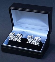 Welsh Dragon Pewter Cufflinks