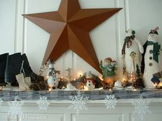 Decorate Your Mantel for Christmas   that I really didn't want to take down was the Christmas Mantle ...