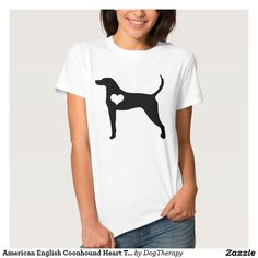 American English Coonhound Heart T-Shirt -- Cute shirt to show your love for your favorite dog breed! Customize for men, women, plus size, and kids!