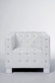 Sillón Shining Cube Blanco, a la medida y para ese rincón tan especial de tu living – comedor.