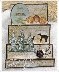 Scrappiness: Tutorial med video. Christmas Crafts, Scrapbook, Frame, Cards, Painting, Facebook, Photo Illustration, Picture Frame, Frames