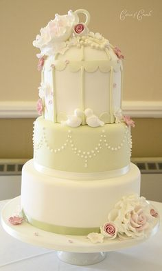 3 tier birdcage cake, via Flickr.