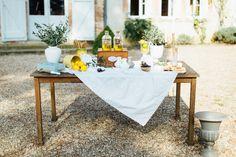 buffet mariage décoration citron