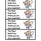 Use these with a treat on your students' desks to encourage them to be organized and clean!